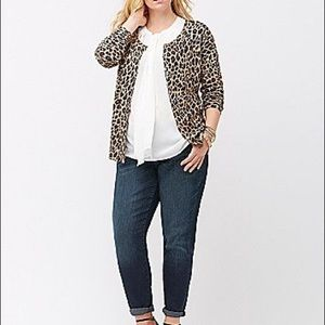 Lane Bryant Animal Print Cardigan